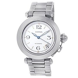 Cartier Pasha Stainless Steel Automatic White Men's Watch W31015M7