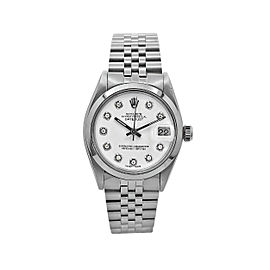 Rolex Rolex Datejust 31, Stainless Steel, White Diamond Dial, 6824