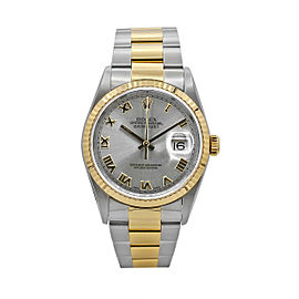 Men's Rolex Datejust 36, Stainless Steel and 18k Yellow Gold, Silver dial, 16233