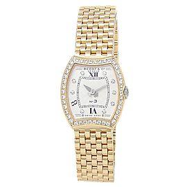 Bedat & Co No.3 18k Yellow Gold Diamonds Quartz Silver Ladies Watch 304.333.109