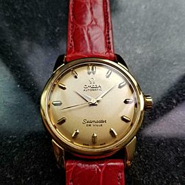 Men's Omega Seamaster DeVille 34mm Gold-Capped Automatic Watch, c.1950s LV945RED