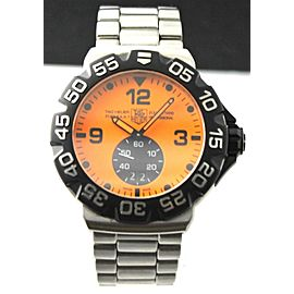 TAG HEUER FORMULA 1 WAH1012.BA0854 GRANDE DATE STEEL QUARTZ ORANGE MINT WATCH