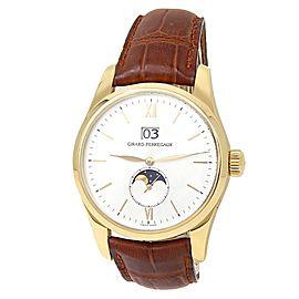 Girard Perregaux Classic Elegance 18k Yellow Gold Auto Silver Men's Watch 49530