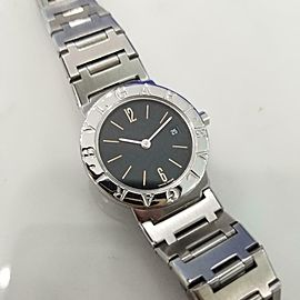 Ladies Bvlgari BB 26 SS 26mm Quartz w/Date Dress Watch c.2000s Swiss JAC13