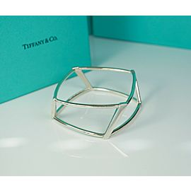 Tiffany & Co Frank Gehry Open Torque Sterling Silver Bangle Size M RARE Retired