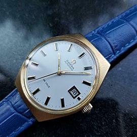 Mens Omega Vintage Gold-Capped DeVille 35mm Automatic, c.1970s Swiss AL16BLU