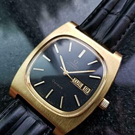 Mens Omega Geneve 36mm Gold-Plated Day Date Automatic, c.1970s Vintage J728