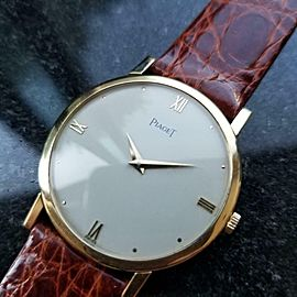 Mens Piaget cal.9P 32mm 18k Gold Hand-Wind Dress Watch, c.1970s Swiss LV641