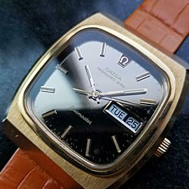 Mens Omega Seamaster 40mm Gold-Capped Megaquartz Day Date, c.1970s Swiss EB119OR
