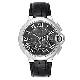 Cartier Ballon Bleu Steel Black Dial Chronograph Mens Watch W6920052