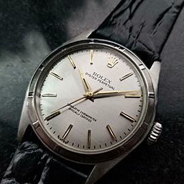 Mens Rolex Oyster Perpetual Ref.6107 34mm Bubble Back Automatic, c.1960s LV903