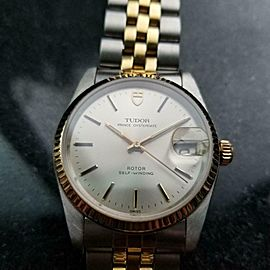 Mens Tudor Prince Oysterdate ref.74033 34mm 18k & ss Automatic, c.1990s LV920