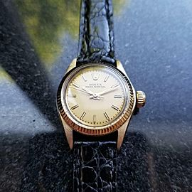 Ladies Rolex Oyster Perpetual 6719 25mm 14k Gold Automatic, c.1970s Swiss MS148