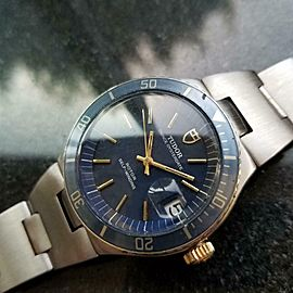Mens Tudor Prince Oysterdate 38mm Automatic w/Date, c.1970s Swiss Vintage MS201