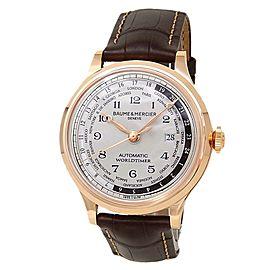 Baume & Mercier Capeland Worldtimer 18k Rose Gold Beige Men's Watch M0A10107