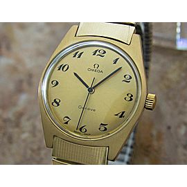 Mens Omega Geneve 35mm Gold-Plated Hand-Wind Dress Watch, c.1970s Vintage MX36