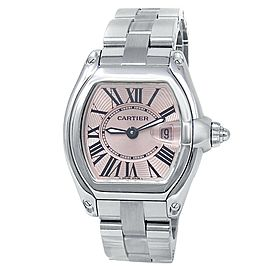 Cartier Roadster Stainless Steel Quartz Pink Ladies Watch