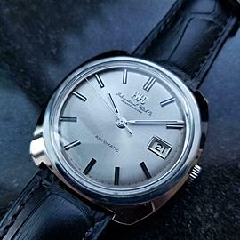Mens IWC Schaffhausen 36mm Date Automatic Dress Watch, c.1970s Swiss NS22