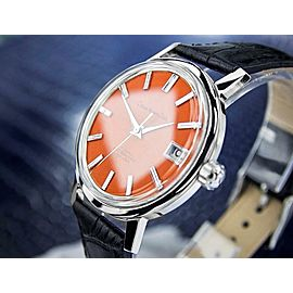 Mens Citizen Homer Date 36mm Automatic Orange Dial, c.1960s Vintage SCX320