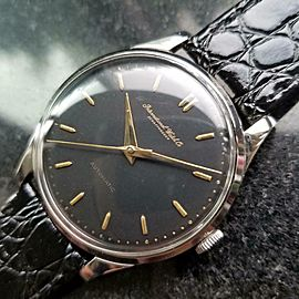 Mens IWC Schaffhausen 35mm Automatic Dress Watch, c.1960s Swiss Vintage R785BLK