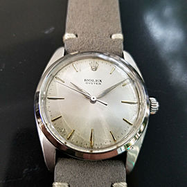 Mens Rolex Oyster Ref.6424 36mm Hand-Wind Dress Watch, c.1960s Vintage MA171