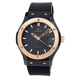 Hublot Classic Fusion Ceramic Rubber Black Carbon Fiber Men Watch 542.CO.1781.RX