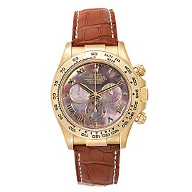 Rolex Daytona Yellow Gold Mother of Pearl Dial Mens Watch 116518