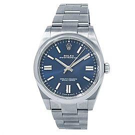 Rolex Oyster Perpetual Stainless Steel Oyster Automatic Blue Men's Watch 124300