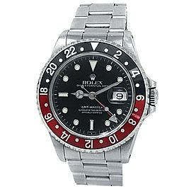 "Rolex GMT-Master ""Coke"" Stainless Steel Oyster Auto Black Men's Watch 16700"