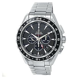 Omega Seamaster Aqua Terra GMT Stainless Steel Grey Watch 231.10.44.52.06.001