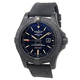 Breitling Avenger Blackbird Black Titanium Canvas Auto Black Men's Watch V17310
