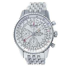 Breitling Montbrillant Datora Stainless Steel Automatic White Men's Watch A21330