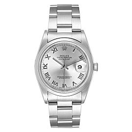 Rolex Datejust 36 Rhodium Roman Dial Steel Mens Watch 16200