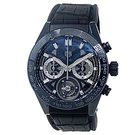 Tag Heuer Carrera Calibre 02T Ceramic Auto Skeleton Men's Watch CAR5A93.FC6442