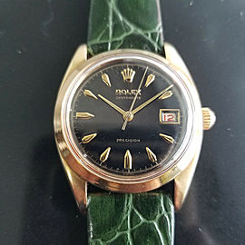 Mens Rolex OysteDate Precision 6494 35mm Gold-Capped Hand-Wind, c.1950s MA199GRN