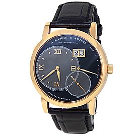 A.Lange & Sohne Grand Lange 1 18k Rose Gold Leather Black Men's Watch 115.031