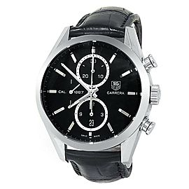 Tag Heuer Carrera Calibre 1887 Stainless Steel Auto Black Men's Watch CAR2110-0