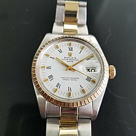 Mens Rolex Oyster Perpetual Date Ref.1505 35mm Automatic, c.1970s Swiss RA106