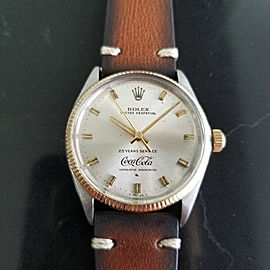 Mens Rolex Oyster 1005 14k Gold & SS Automatic Coca Cola Dial, c.1970s RA130BRN