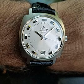 Mens Zenith 1960s Vintage 28800 36mm Automatic w/Date Swiss Timepiece LV492