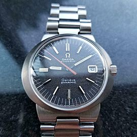 Mens Omega Geneve Dynamic 41mm Date 1970s Automatic Swiss Vintage Watch LV647