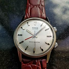 Mens Tudor Advisor ref.10050 35mm 1980s Manual Wind with Alarm Swiss LV601RED