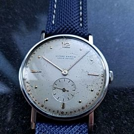 Mens Ulysse Nardin 1950s Manual Wind Large 37mm Dress Watch Swiss Vintage LV776