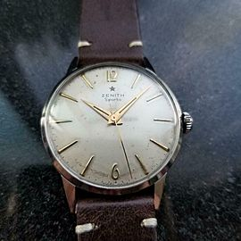 Mens Zenith Sporto 1960s 35mm cal.120 Manual Wind Dress Watch Vintage