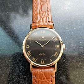 Ladies Rolex Cellini Geneve 18k Solid Gold 4109 26mm 1970s Manual Wind LV858