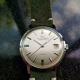 Mens IWC Schaffhausen 35mm 1970s Date Automatic Swiss Vintage Watch