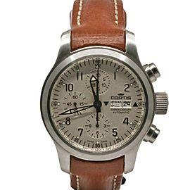 Men's Fortis B-42 Chronograph 42mm, Stainless Steel, Beige dial, 635.10.12 K