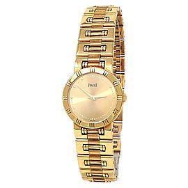Piaget Dancer 18k Yellow Gold Quartz Champagne Ladies Watch 80563 K 81