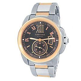Cartier Calibre de Cartier Stainless Steel Automatic Brown Men's Watch