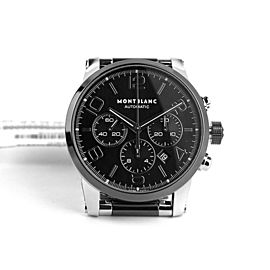 MONTBLANC TIMEWALKER STEEL 43 mm AUTOMATIC CHRONOGRAPH WATCH 103094 NEW